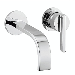 Meandro Wall-Mounted Basin Mixer