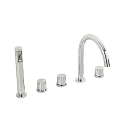 Ocean 5 Piece Shower Mixer Deck Mounted