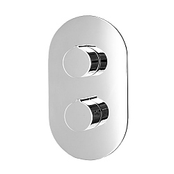 Ocean Oval 2-Handle 2 Outlet Shower Valve With Diverter