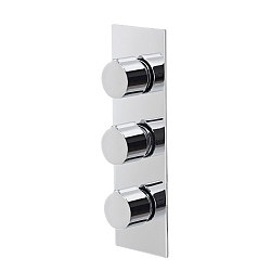 Ocean Rectangular 3-Handle 3 Outlet Shower Valve with Diverter