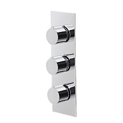 Ocean Rectangular 3-Handle 2 Outlet Shower Valve with Diverter