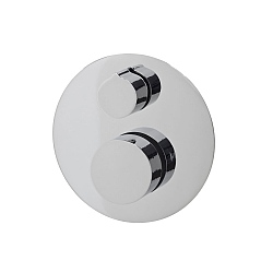 Ocean Round 2-Handle 2 Outlet Shower Valve With Diverter