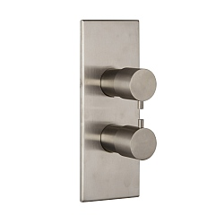 Spillo Steel Two/Three Way Dual Control Thermostatic Shower Valve