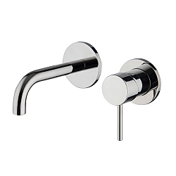 Spillo Wall Mounted Single Lever Basin Mixer (122mm Spout) with Click Waste