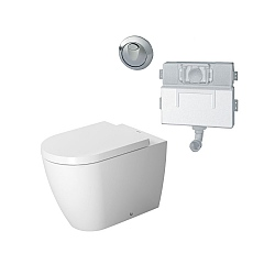 Duravit ME by Starck Back To Wall WC White (Complete Set)