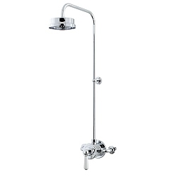 Arc Exposed Shower Valve & Shower Head with 90 Degree Riser