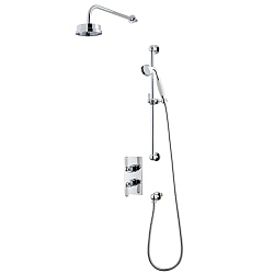 Arc Dual Control Shower Valve & Shower Head with Flexible Shower Kit
