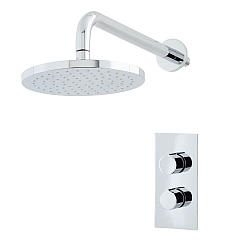 Ocean Dual Control Shower Valve & Disc Rain Shower Head with Arm