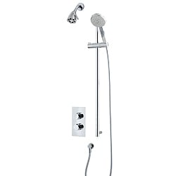 Ocean Shower Set (Valve & Diverter, Flexible Kit & Six Prong Head)