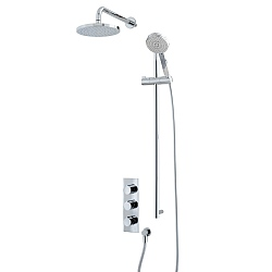 Ocean Shower Set (Triple Valve, Flexible Kit & Shower Head)