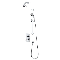 Original Shower Set (Dual Valve & Diverter, Kit & Six Prong Head)