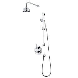 Waterloo Dual Control Shower Valve & Diverter With Shower Head & Flexible Kit