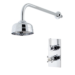 Waterloo Dual Control Shower Valve & Shower Head with Arm