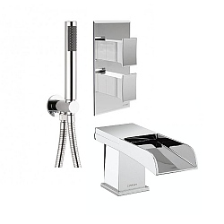 Libero Bath Spout & Shower Kit Chrome (Complete Set)