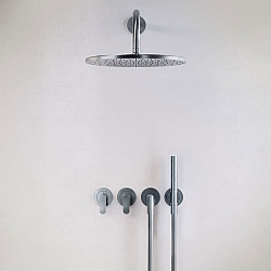 John Pawson Set 22 Thermostatic Complete Rain Shower Set With Pencil Hand Shower