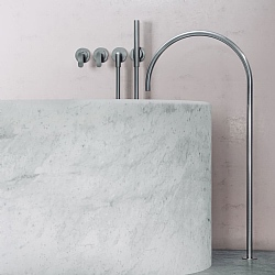 John Pawson Set 25 Thermostatic Complete Bath Set With Pencil Hand Shower