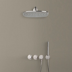 Piet Boon Set 22 Thermostatic Wall-Mounted Rain Shower Set With Handshower