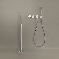 Piet Boon Set 25 Thermostatic Wall-Mounted Bath Set & Round Floor-Standing Bath Spout