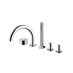 SO Five Hole Bath Mixer with 232mm Spout & Handshower