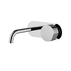 SO Wall-Mounted Single Lever Basin Mixer (147mm Spout) With Backplate and Click Waste