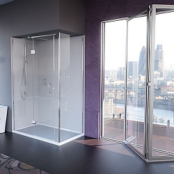 Matki Illusion Large Corner Shower Enclosure With Raised Tray
