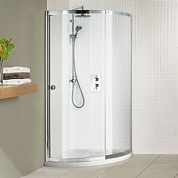 Matki Colonade Curved Corner Shower Enclosure With Tray