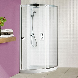 Matki Colonade Curved Corner Shower Enclosure With Raised Tray