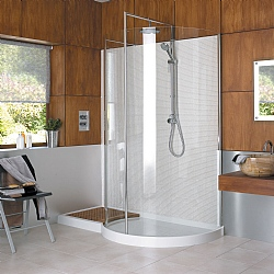 Matki Walk-In Original Curved Corner Shower Enclosure