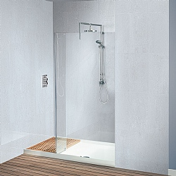 Matki Walk-In Original Recess Shower Enclosure & White Tray