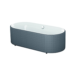 Bette Lux Oval Couture Waterproof Fabric Bath Panel