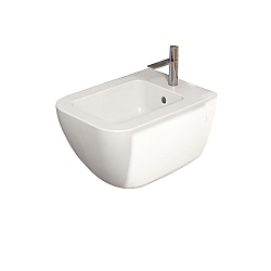 Cielo Shui Comfort Wall-Mounted Bidet 1 Taphole With Fixing Kit