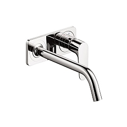 Hansgrohe Axor Citterio M Wall-Mounted Basin Mixer With Back Plate