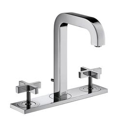 Hansgrohe Axor Citterio 3-Piece Cross Head Basin Mixer & Plate