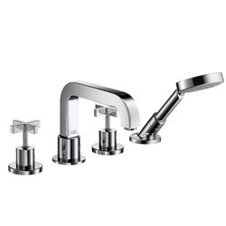 Hansgrohe Axor Citterio Tile-Mounted 4-Piece Cross Head Bath Shower Mixer