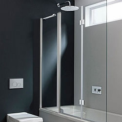 Simpsons Design Triple Bath Screen 1500 x 1500mm Glass
