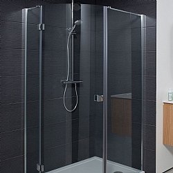 Simpsons Design Semi - Frameless Quadrant Single Shower Door
