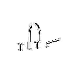 Dornbracht Tara Cross Handle Bath Shower Mixer