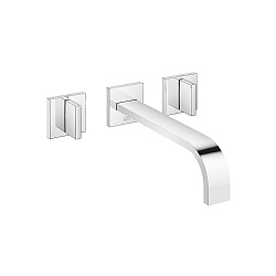 Dornbracht MEM Wall-Mounted 3-Piece Basin Mixer 240mm