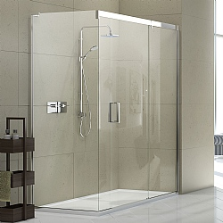 Matki Eauzone Sliding Door & Fixed Panel For Corner Shower Enclosure