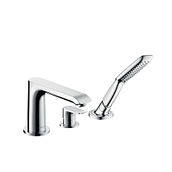 hansgrohe Metris 3-Piece Bath Shower Mixer