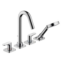 AXOR Citterio M Rim-Mounted 4-Piece Bath Shower Mixer