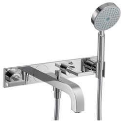 Hansgrohe Axor Citterio 3-Piece Lever Handle Bath Filler With Back Plate