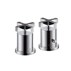 Hansgrohe Axor Citterio 2-Piece Cross Handle Thermostatic Bath Filler