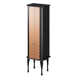 Hoxton Satin Black Tall Unit 560mm