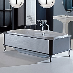 Hoxton Satin Black Bath Surround