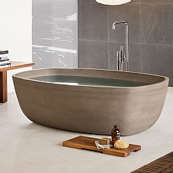 Neutra Inkstone Freestanding Bath
