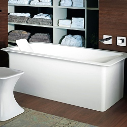 Gessi iSpa Freestanding Bath With Backrest