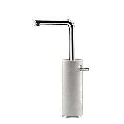 Marmo L Tall Mono Basin Mixer White