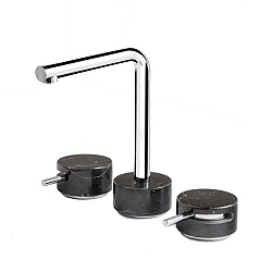 Marmo L Low Spout 3-Piece Basin Mixer Black