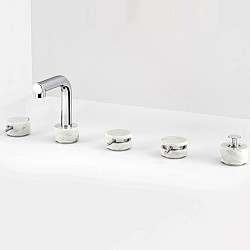 Marmo L 5-Piece Bath Filler White
